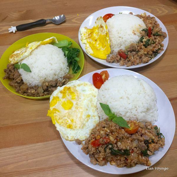 【食譜】超簡單的懶人版泰式打拋豬–用泰國超市買的調理包做泰式打拋豬