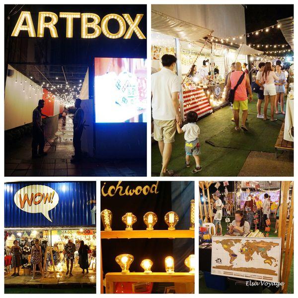 """【曼谷景點】""""ArtBox""""超適合拍照的流行創意設計市集、年輕化的精緻夜市"""
